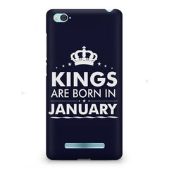 Kings are born in January design    Xiaomi Mi4i hard plastic printed back cover