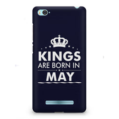 Kings are born in May design    Xiaomi Mi4i hard plastic printed back cover