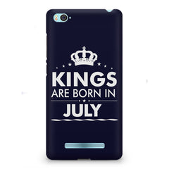 Kings are born in July design    Xiaomi Mi4i hard plastic printed back cover