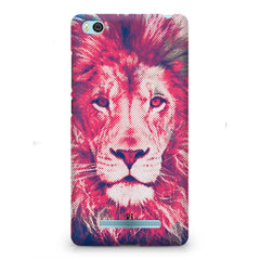 Zoomed pixel look of Lion design Xiaomi Mi4i hard plastic printed back cover