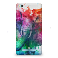 colourful portrait of Elephant Xiaomi Mi4i hard plastic printed back cover