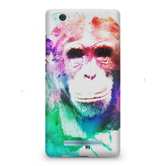 Colourful Monkey portrait Xiaomi Mi4i hard plastic printed back cover
