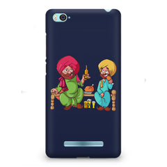 Punjabi sardars with chicken and beer avatar Xiaomi Mi4i hard plastic printed back cover