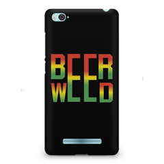 Beer Weed Xiaomi Mi4i hard plastic printed back cover