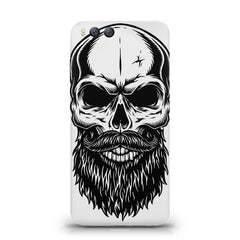Skull with the beard  design,  Xiaomi Mi 6  printed back cover