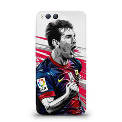 Messi illustration design,  Xiaomi Mi 6  printed back cover