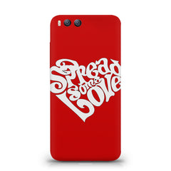 Spread some love design Xiaomi Mi 6  printed back cover