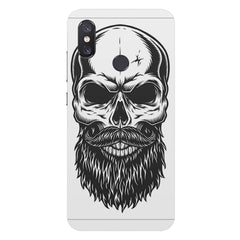 Skull with the beard  design,  Xiaomi Mi 8 hard plastic printed back cover