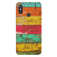 Strips of old painted woods  Xiaomi Mi 8 hard plastic printed back cover