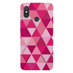 Girly colourful pattern Xiaomi Mi 8 hard plastic printed back cover
