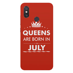 Queens are born in July design Xiaomi Mi 8 hard plastic printed back cover