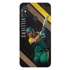 Ab De Villiers the Batting poseXiaomi Mi 8 hard plastic printed back cover