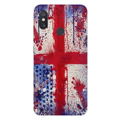 British flag design Xiaomi Mi 8 hard plastic printed back cover