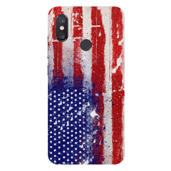 American flag design Xiaomi Mi 8 hard plastic printed back cover