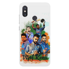 Virat Kohli over the years collage design  Xiaomi Mi 8 hard plastic printed back cover