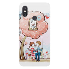 Couple on a swing Romantic design Xiaomi Mi 8 hard plastic printed back cover
