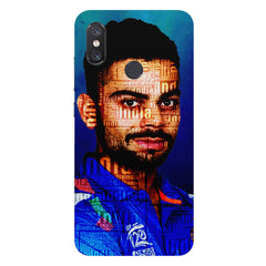Virat Kohli India inscribed design Xiaomi Mi 8 hard plastic printed back cover