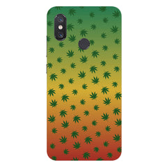 Multicolour leaf overall design Xiaomi Mi 8 hard plastic printed back cover