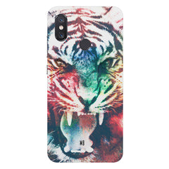 Tiger with a ferocious lookXiaomi Mi 8 hard plastic printed back cover
