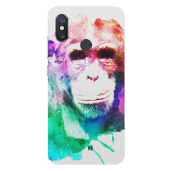 Colourful Monkey portraitXiaomi Mi 8 hard plastic printed back cover