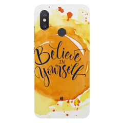 Believe in YourselfXiaomi Mi 8 hard plastic printed back cover