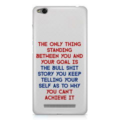 Motivational Quote For Success - Only Thing Between You And Your Goal design,  Xiaomi Redmi 3s printed back cover