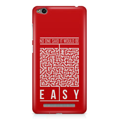 No One Said It Would Be Easy- Start-Up Struggle Quotes design,  Xiaomi Redmi 3s printed back cover