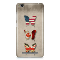 Butterfly in country flag colors Xiaomi Redmi 3s printed back cover