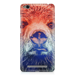 Zoomed Bear Design  Xiaomi Redmi 3s hard plastic printed back cover