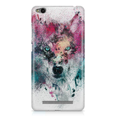 Splashed colours Wolf Design Xiaomi Redmi 3s hard plastic printed back cover