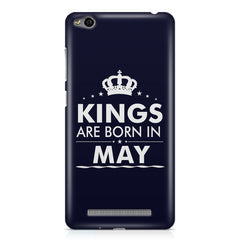 Kings are born in May design    Xiaomi Redmi 3s hard plastic printed back cover