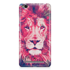 Zoomed pixel look of Lion design Xiaomi Redmi 3s hard plastic printed back cover