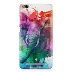 colourful portrait of Elephant Xiaomi Redmi 3s hard plastic printed back cover