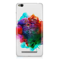 Colourful parrot design Xiaomi Redmi 3s hard plastic all side printed back cover.