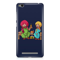 Punjabi sardars with chicken and beer avatar Xiaomi Redmi 3s hard plastic printed back cover