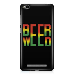 Beer Weed Xiaomi Redmi 3s hard plastic printed back cover