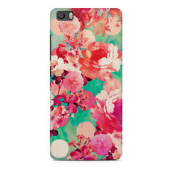 Floral  design,  Xiaomi Mi5c  printed back cover