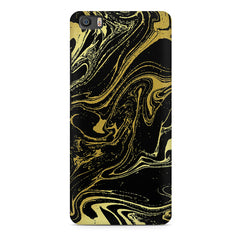 Golden black marble design Xiaomi Mi5c  printed back cover