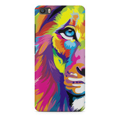 Colourfully Painted Lion design,  Xiaomi Mi5c  printed back cover