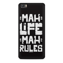 Mah Life Mah Rules Quirky design,  Xiaomi Mi5c  printed back cover