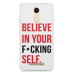 Believe in your Self Xiaomi Redmi Note 3  printed back cover