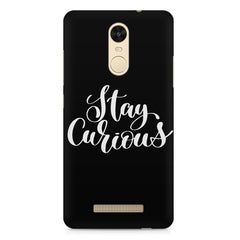 Be curious design Xiaomi Redmi Note 3  printed back cover