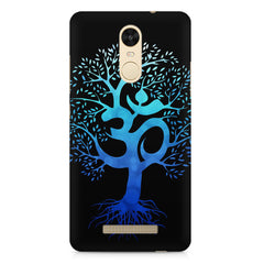 A beautiful blue tree with Om inscribed Xiaomi Redmi Note 3 hard plastic printed back cover
