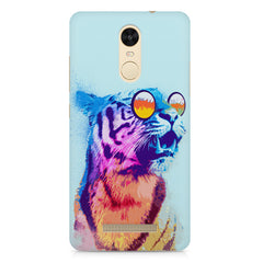 A funny, colourful yet cool portrait of a tiger wearing reflectors. Xiaomi Redmi Note 3 hard plastic printed back cover