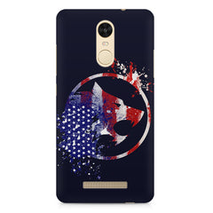 American Wolf design    Xiaomi Redmi Note 3 hard plastic printed back cover