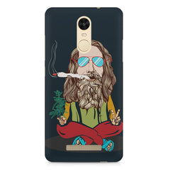 Baba Smoking Cigar design Xiaomi Redmi Note 3 hard plastic printed back cover