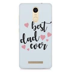 Best Dad Ever Design Xiaomi Redmi Note 3 hard plastic printed back cover