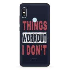 Things Workout I Don'T design,   Xiaomi MI A2, 20 motivational cases hard plastic printed back cover.