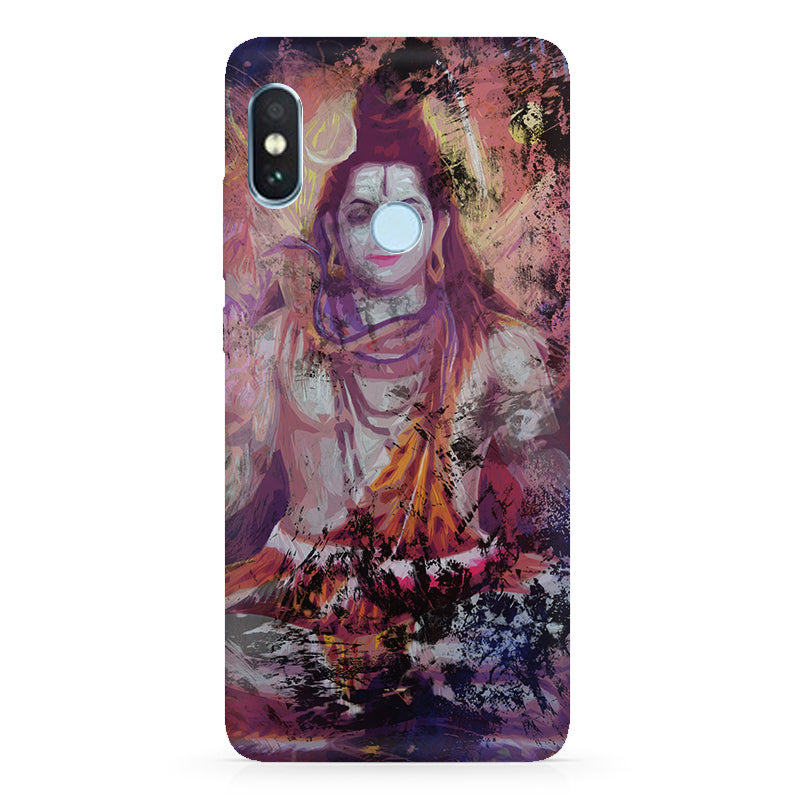 purchase cheap be9a1 66e93 Shiva painted design Xiaomi Redmi Y2 hard plastic printed back cover.