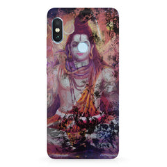 Shiva painted design Xiaomi 6 Pro hard plastic printed back cover